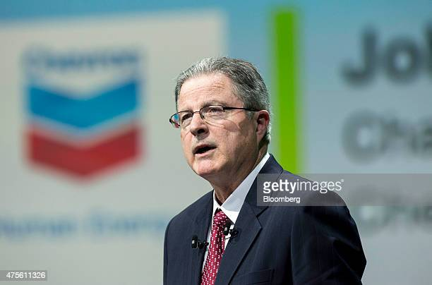 John Watson chairman and chief executive officer of Chevron Corp speaks during the World Gas Conference in Paris France on Tuesday June 2 2015 Oil...