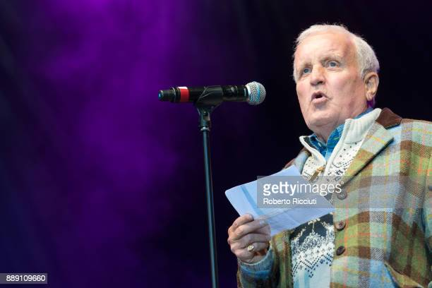John Watson OBE performs on stage during Sleep In The Park a Mass Sleepout organised by Scottish social enterprise Social Bite to end homelessness in...