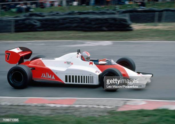 John Watson of Northern Ireland in action, driving a McLaren MP4/1C with a Ford Cosworth DFV 3.0 V8 engine for Marlboro McLaren International, during...