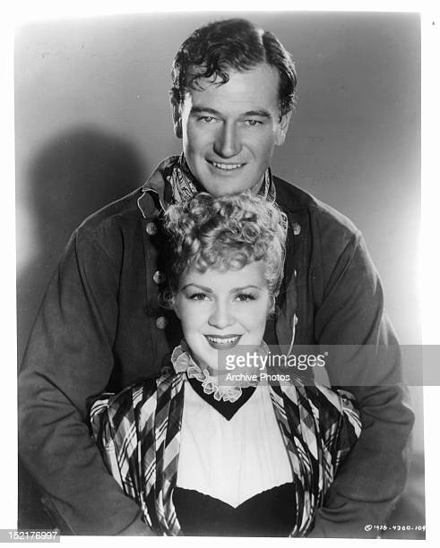 John Wayne and Claire Trevor publicity portrait for the film 'Stagecoach' 1939