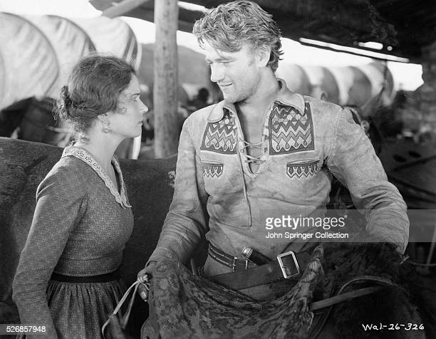 John Wayne and Marguerite Churchill in The Big Trail