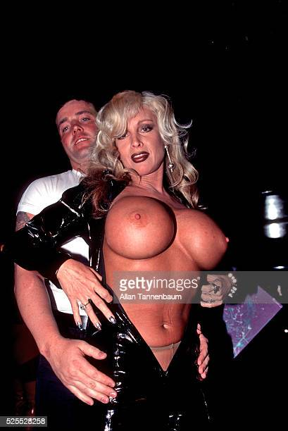 John Wayne Bobbitt and his costar from his Xrated film 'Frankenpenis' New York New York February 28 1996