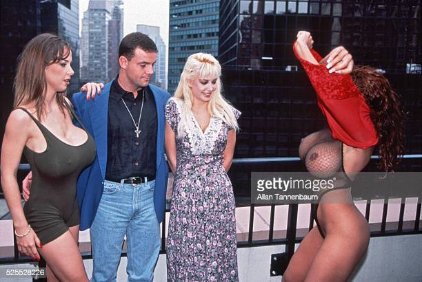 John Wayne Bobbitt and some costars from his first Xrated film New York New York September 23 1994