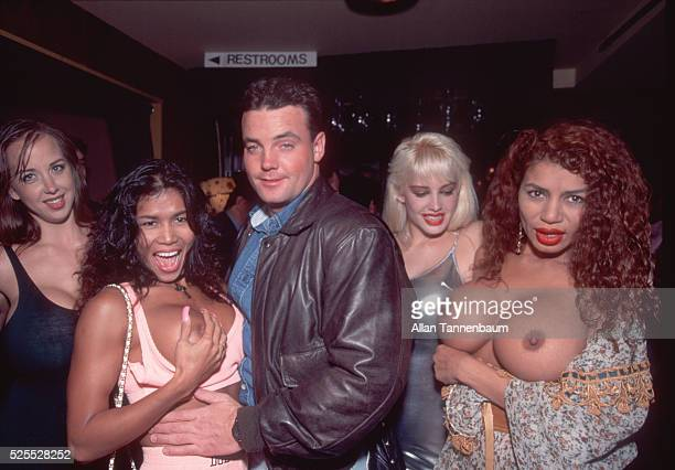 John Wayne Bobbitt whose wife cut off his penis which was later surgically reattached parties with the pornstars he worked with in his first porn...