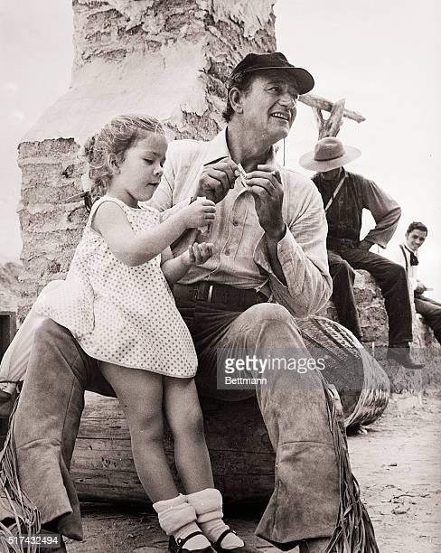 John Wayne Daughter OnThe Alamo Set 1959
