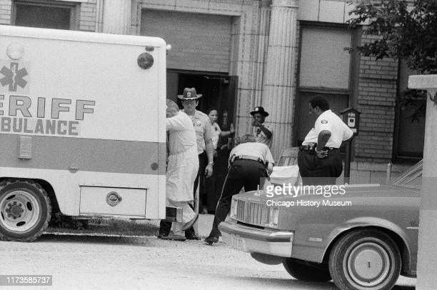 John Wayne Gacy is released from Cook County Hospital and he is possibly being transferred to Cermak Hospital Chicago Illinois December 8 1969 At...