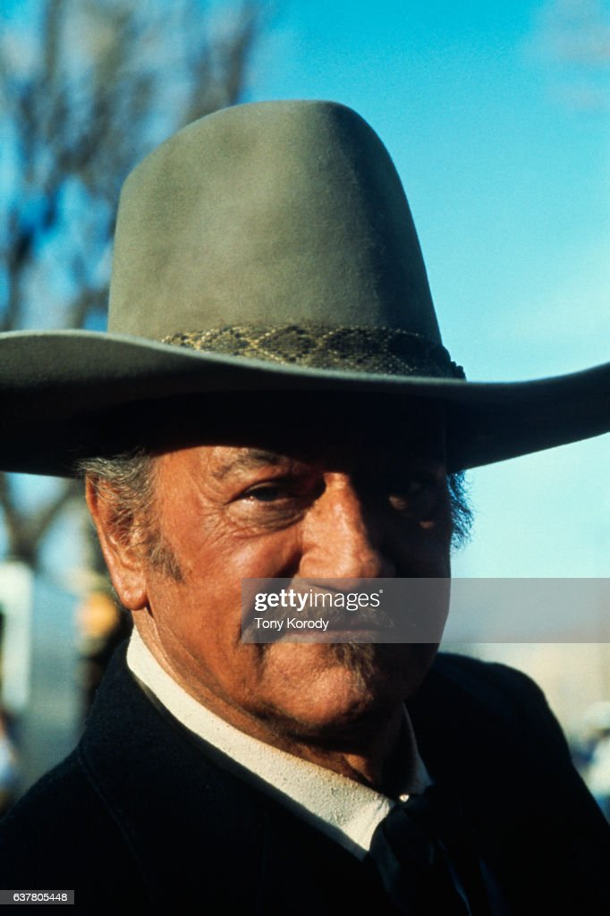 John Wayne on Set of The Shootist