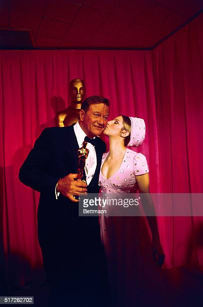 John Wayne received the Best Actor of 1969 Oscar for his role in True Grit Presenting the award at the 42nd annual presentation of the Academy of...