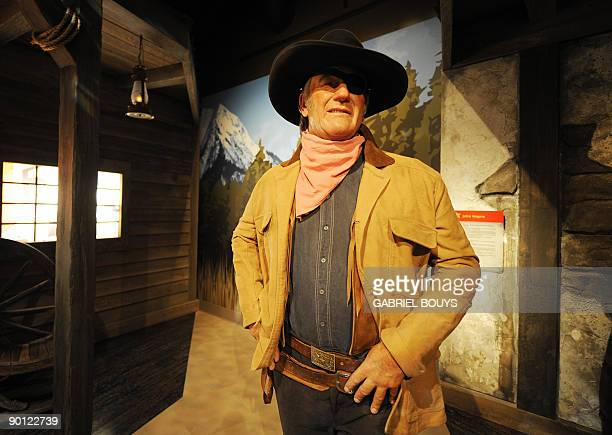 A John Wayne wax figure is seen at Madame Tussauds in Hollywood California on August 27 2009 Marie Tussaud born Anna Maria Grosholtz was born in...