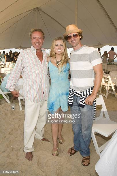 John Wegorzewski Anna Kulinova and Donegal Fitzgerald attend the Hamptons Magazine Annual Clambake on July 20 2008 in South Hampton New York