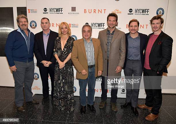 John Wells Frank Bruni Sienna Miller Lee Schrager Bradley Cooper Daniel Bruhl and Sam Keeley attend the Private Screening Of BURNT QA Panel And...