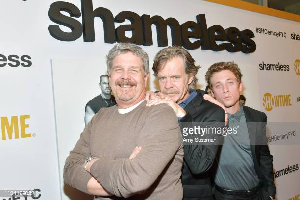John Wells William H Macy and Jeremy Allen White attend For Your Consideration Event For Showtime's Shameless at Linwood Dunn Theater on March 06...