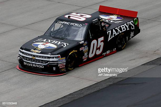 John Wes Townley driver of the Zaxby's Chevrolet practices for the NASCAR Camping World Truck Series at Dover International Speedway on May 12 2016...
