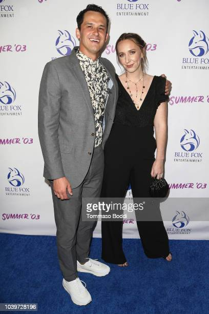 John Weselcouch and Rebecca Gleason attend the Premiere Of Blue Fox Entertainment's Summer '03 at the Vista Theatre on September 24 2018 in Los...