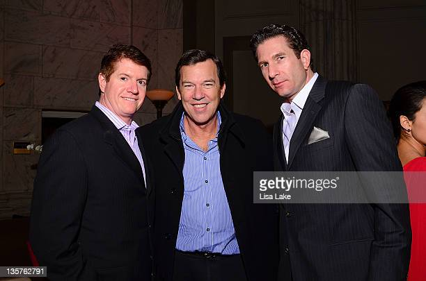 John Westrum Steve Thorne and Eric Robins attend The Philadelphia Style Magazine cover event hosted by Melania Trump at Ritz Carlton Hotel on...