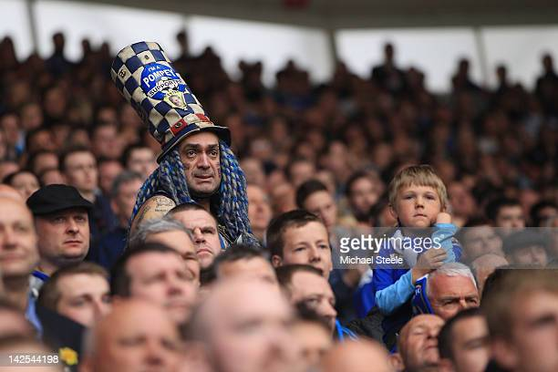 John Westwood famous fan of Portsmouth looks on during the npower Championship match between Southampton and Portsmouth at St Mary's Stadium on April...
