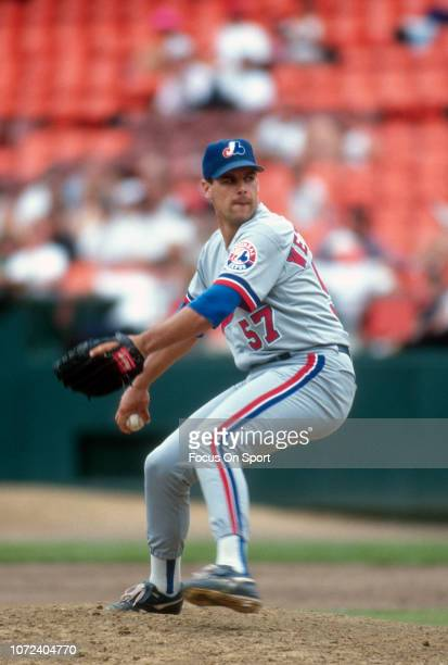 John Wetteland of the Montreal Expos pitches against the San Francisco Giants during an Major League Baseball game circa 1993 at Candlestick Park in...