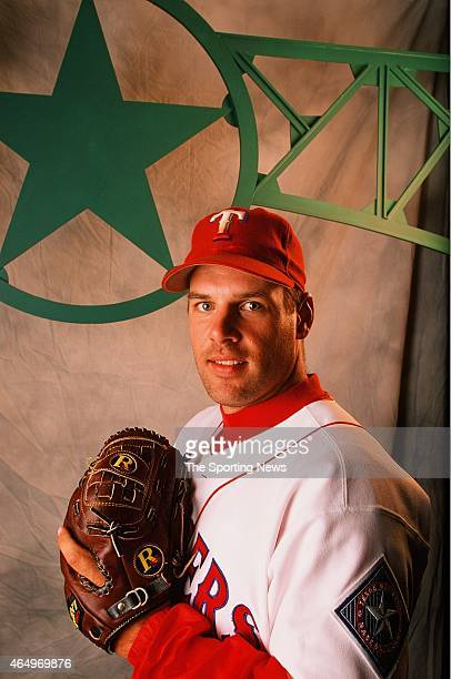 John Wetteland of the Texas Rangers poses for a photo on April 27 1997