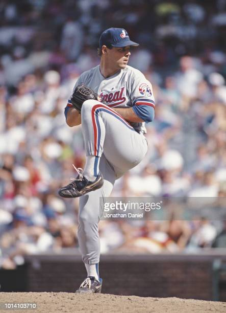 John Wetteland pitcher for the Montreal Expos on the mound preparing to throw a pitch during the Major League Baseball National League East game...