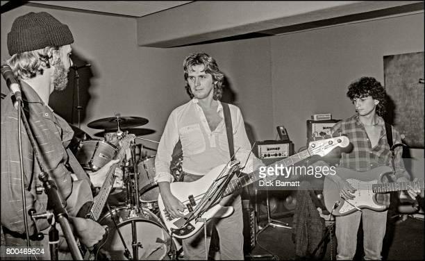 John Wetton joins Wishbone Ash portrait in a London rehearsal studio 1980 LR Andy Powell John Wetton Laurie Wisefield