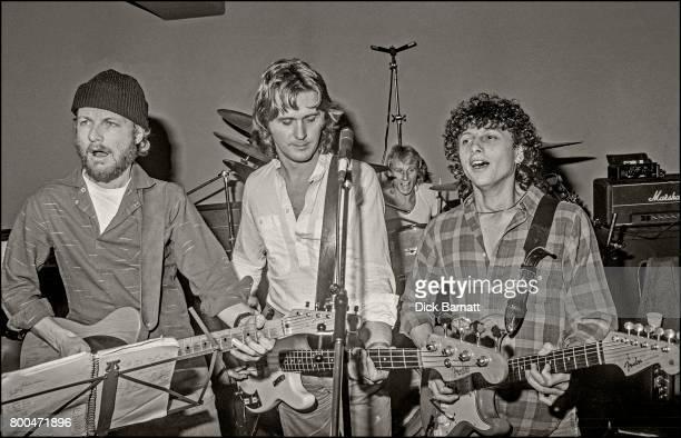 John Wetton joins Wishbone Ash portrait in a London rehearsal studio 1980 LR Andy Powell John Wetton Steve Upton Laurie Wisefield