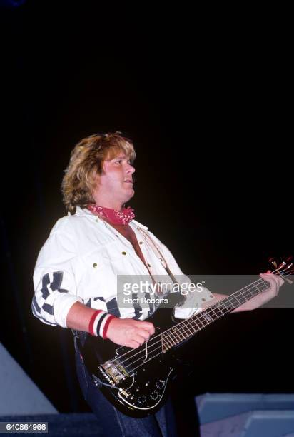 John Wetton of British rock group Asia performing at the Brendan Byrne Arena in East Rutherford, New Jersey on August 25, 1983.
