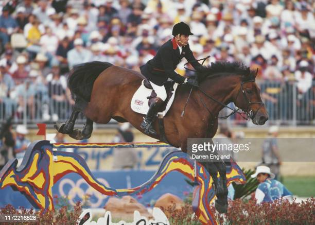 John Whitaker of Great Britain riding Calvaro in the Team jumping competition on 28th September 2000 during the XXVII Olympic Summer Games at the...