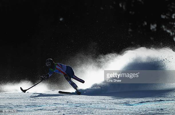 John Whitney of USA competes in the Men's Standing SuperG during Day 8 of the 2010 Vancouver Winter Paralympics at Whistler Creekside on March 19...