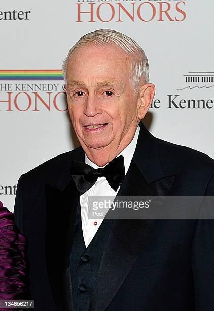 John Willard 'Bill' Marriott Jr Chairman and CEO of Marriott International arrives for the formal Artist's Dinner honoring the recipients of the 2011...