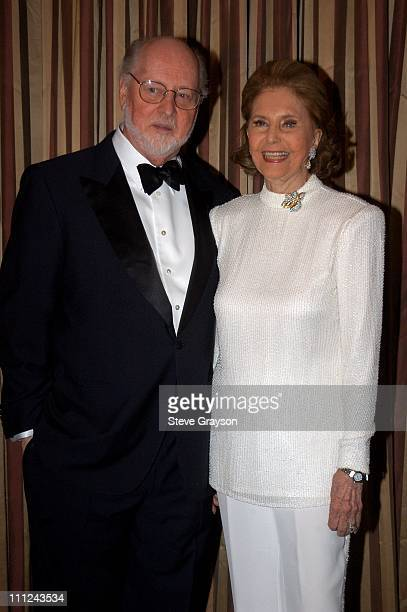 John Williams and Cyd Charisse during 2003 Music Center Artist Awards at The Beverly Regent Hotel in Los Angeles California United States