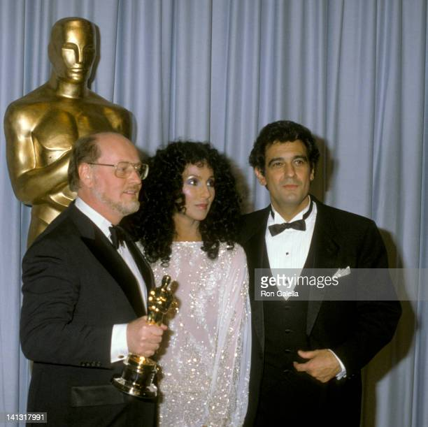 John Williams Cher and Placido Domingo at the 55th Annual Academy Awards Dorothy Chandler Pavilion Los Angeles