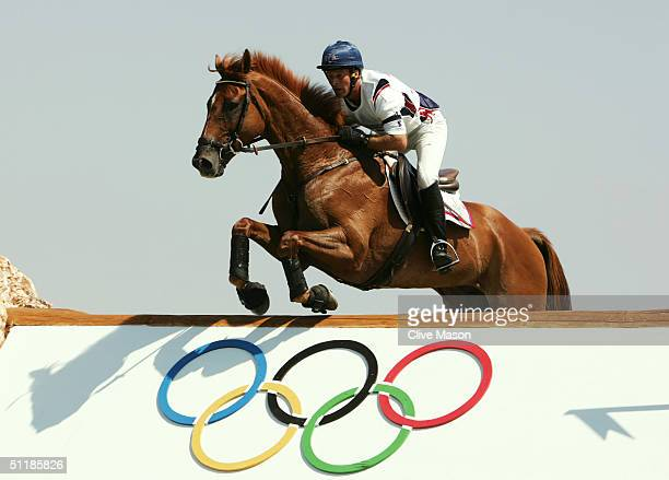 John Williams of the USA competes on Carrick in the team three day eventing cross country competition on August 17, 2004 during the Athens 2004...