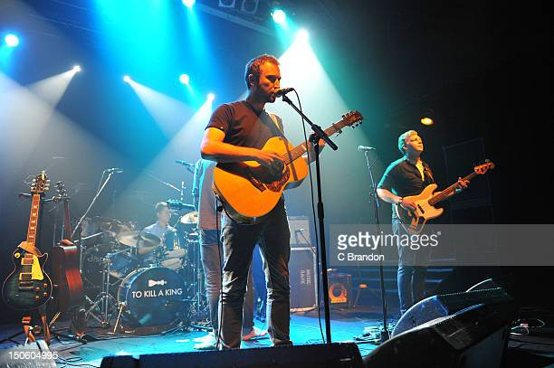 John Willoughby Ralph Pellymounter and Josh Platman of To Kill A King perform on stage at KOKO on August 15 2012 in London United Kingdom