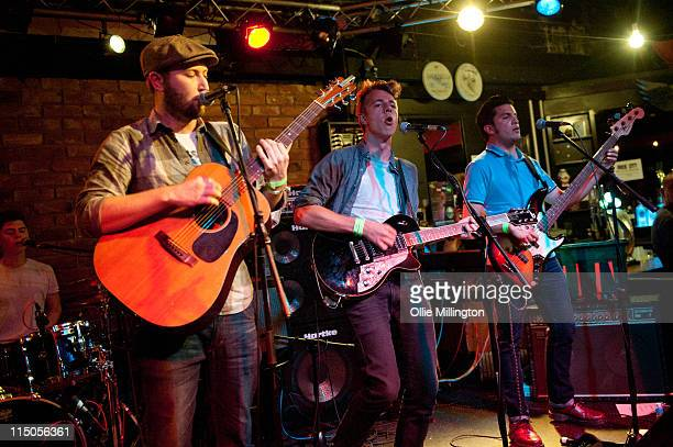 John Willoughby, Ralph Pellymounter, Ian Dudfield and Josh Platman of To Kill A King perform on stage during Dot To Dot Festival in The Basement at...