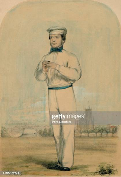 John Wisden circa 1850s Portrait of English cricketer John Wisden founder of Wisden Cricketers' Almanack at Lords cricket ground in London Wisden...