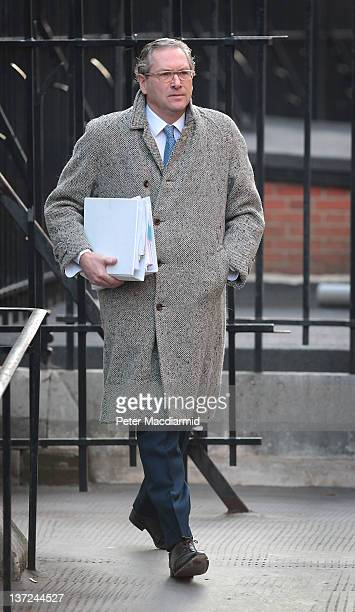 John Witherow editor of The Sunday Times arrives at The High Court to give evidence to the Leveson Inquiry on January 17 2012 in London England The...