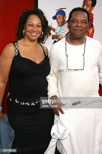 John Witherspoon and his wife Angela during Little Man Los Angeles Premiere Arrivals at Mann National Theater in Westwood California United States