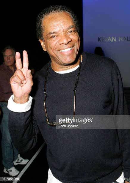 John Witherspoon during MercedesBenz Spring 2007 LA Fashion Week at Smashbox Studios Kevan Hall _ Backstage and Front Row at Smashbox Studios in...
