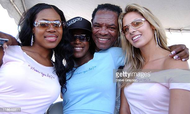 John Witherspoon looks on as Los Angeles Street Ballers compete for the chance to play against the 2004 Team AND1 on the blacktop of the The Great...