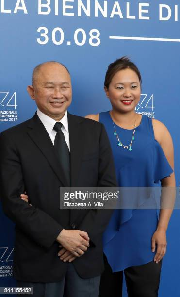 John Woo and Angeles Woo attend the 'Zhuibu ' photocall during the 74th Venice Film Festival on September 8 2017 in Venice Italy