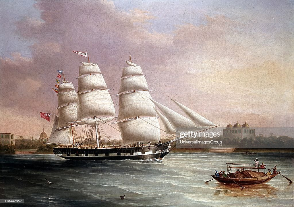 John Wood' Approaching Bombay. At this time the East India Company was still governing India. JC Heard (c1850) British painter. Oil on canvas. : News Photo