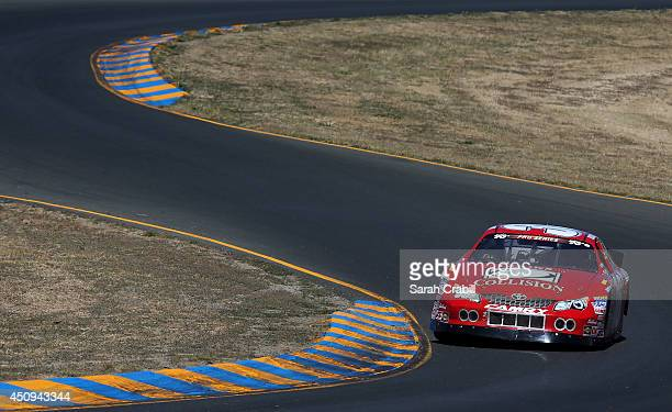 John Wood driver of the Holleran's Performance Toyota drives during practice for the NASCAR KN Pro Series West Carneros 200 at Sonoma Raceway on June...