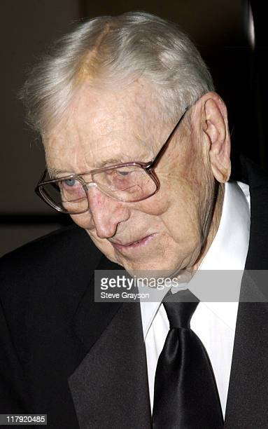 John Wooden during NAACP Legal Defense Fund's Hank Aaron Humanitarian Award in Sports at The Beverly Hilton Hotel in Beverly Hills California United...
