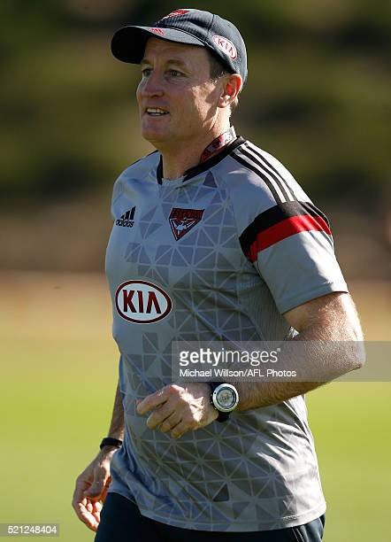 John Worsfold Senior Coach of the Bombers in action during an Essendon Bombers AFL training session at True Value Solar Centre on April 15 2016 in...
