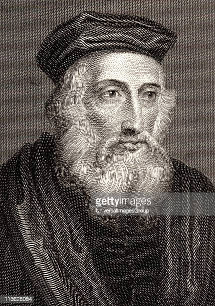 John Wycliffe also spelled Wycliff WyclifWicliffe Wiclif c13301384 English theologian philosopher and church reformer19th century print engraved by...