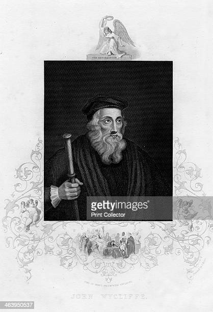 John Wycliffe, English theologian, 19th century. Wycliffe was a philosopher, religious reformer and a forerunner of the Protestant Reformation.