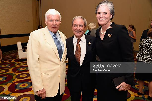 John Y BrownJr Conigressman John Yarmuth and Tori Murden attends the Muhammad Ali Humanitarian Awards at Louisville Marriott Downtown on September 19...