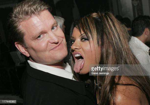 """John Yarbrough and Traci Bingham during Sony Online Entertainment Premieres """"Everquest II"""" at Ruby Skye in San Francisco, California, United States."""