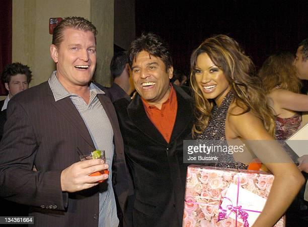 John Yarbrough Erik Estrada and Traci Bingham during Traci Bingham and John Yarbrough Engagement Party at White Lotus in Hollywood California United...