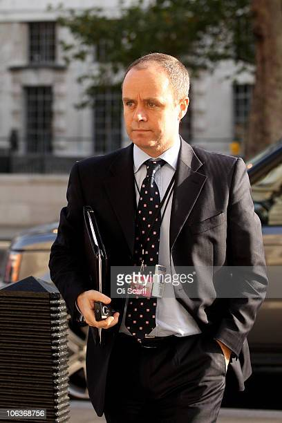 John Yates an Assistant Commissioner in the Metropolitan Police Service and head of their Specialist Operations arrives at the Cabinet Office on...